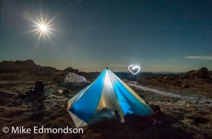 Love camping under the full moon below Mt Kosciuszko