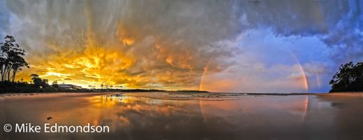 Mollymook Beach sunset Rainbow