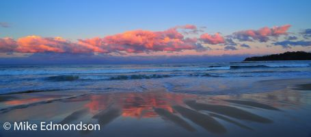 Narrawalle Beach reflections