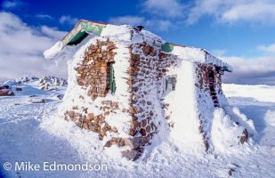Ice clad Seamans Hut