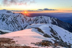 Sunset over Townsend Spur