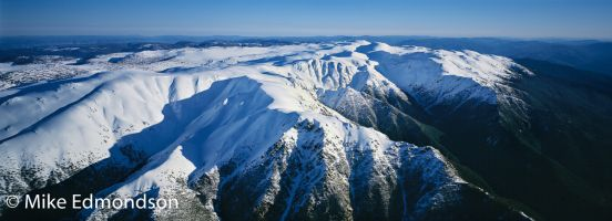 The Snowy Mountains, aerial view